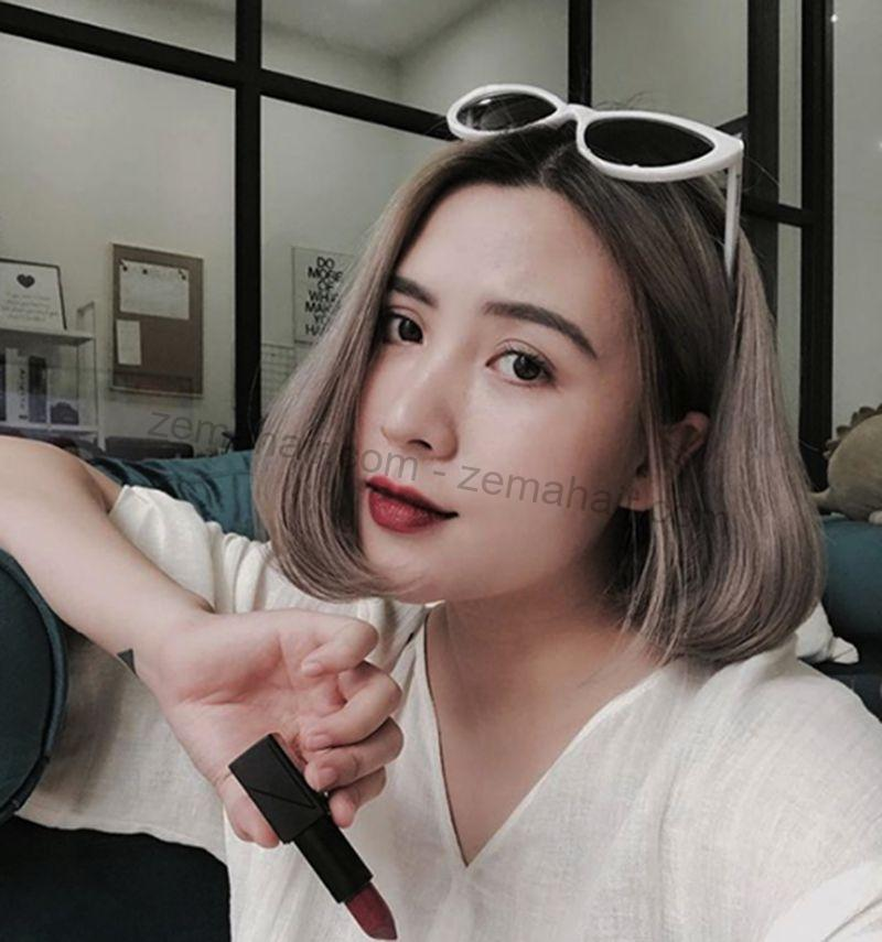 Tóc ngắn uốn phồng là kiểu tóc hoàn hảo để khắc phục khuyết điểm khuôn mặt