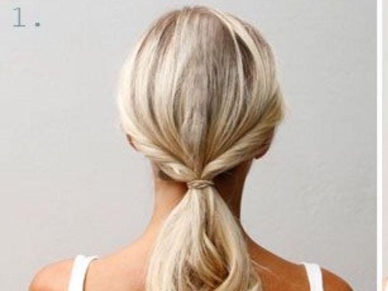 Mái tóc xoắn 2 bên cột dài thấp