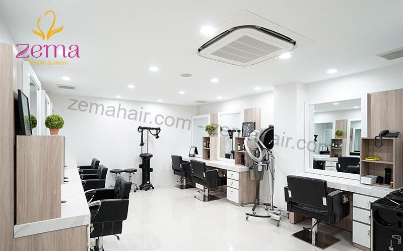 Dịch vụ cắt tóc tại Zema có không gian sang trọng, tiện nghi, đầy đủ trang thiết bị