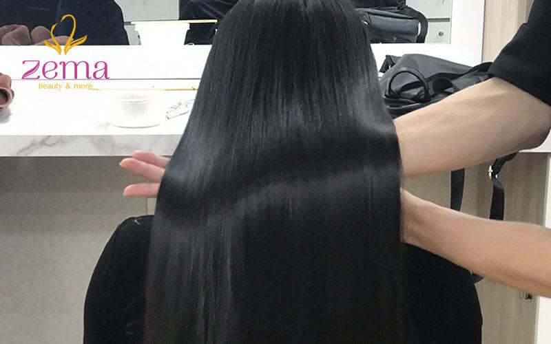 Quy trình duỗi tóc Zema được thực hiện chuẩn 5 sao