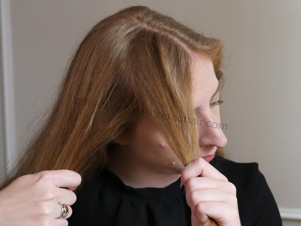 Lấy một phần tóc trước