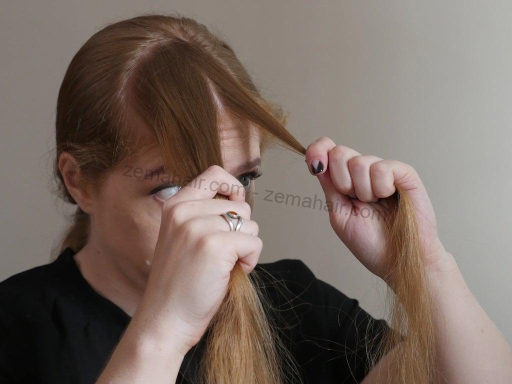 Chia tóc thành ba phần bằng nhau
