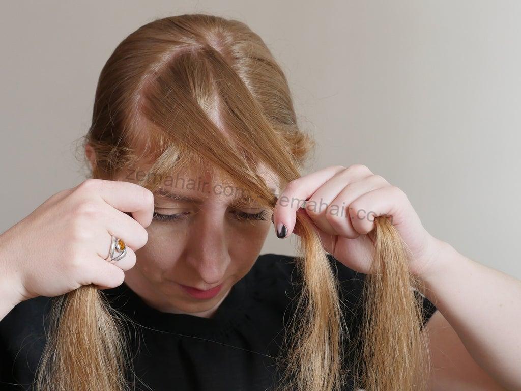 Đan chéo các phần tóc vào nhau