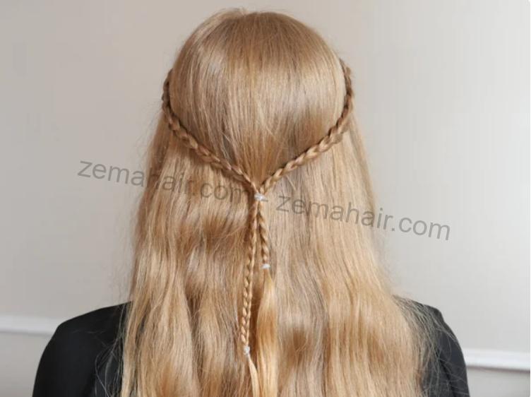 Thành quả của kiểu tết tóc nối đơn giản sau khi bạn thực hiện xong