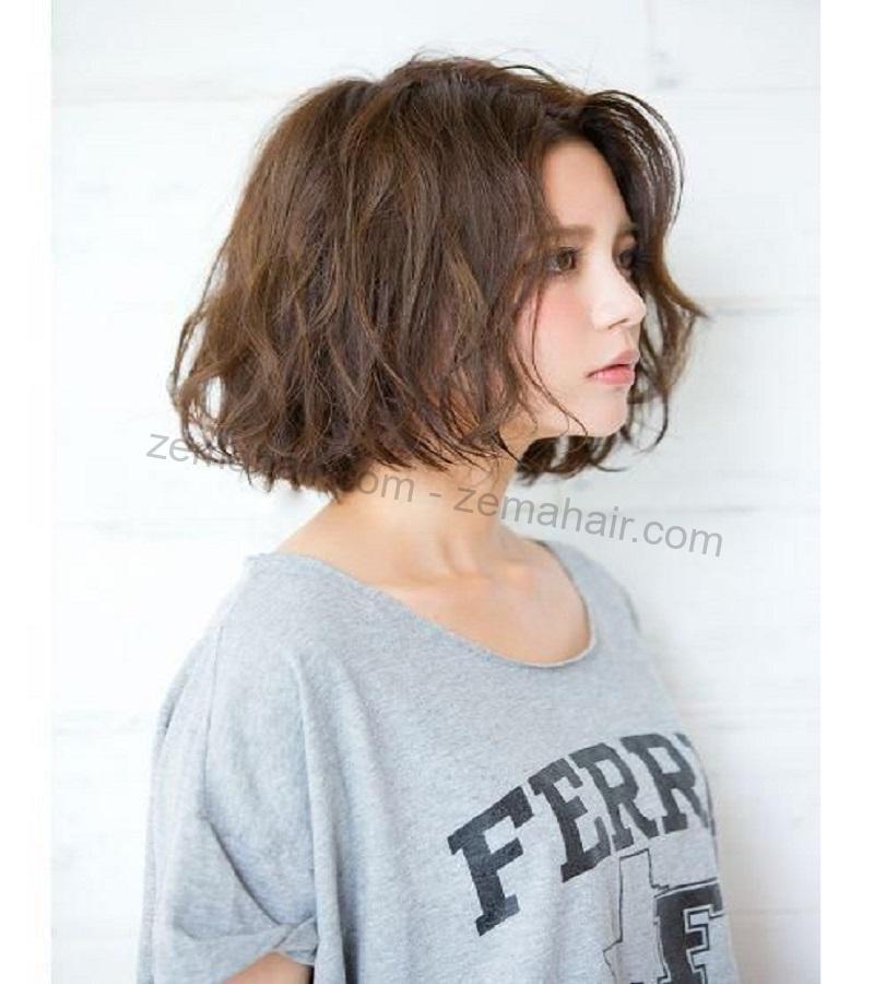 Kiểu tóc ngắn xoăn hình 4