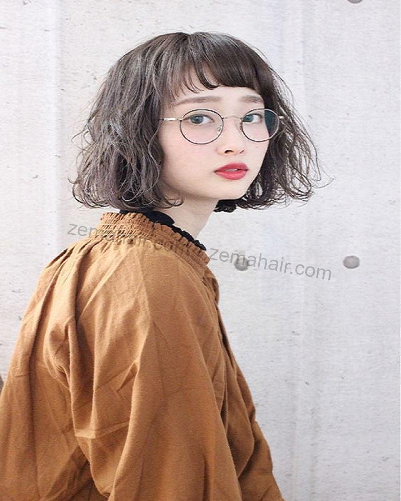 Kiểu tóc ngắn xoăn hình 2