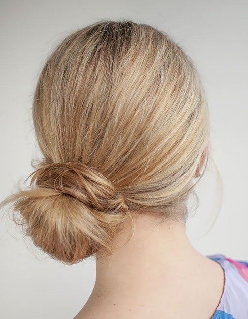 Kiểu tóc búi đơn giản cho nàng