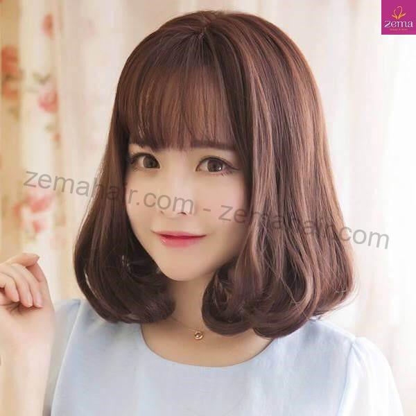 Mẫu tóc ngag vai kết hợp mái thưa trẻ trung, nữ tính