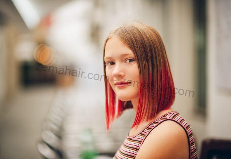 Kiểu tóc ombre đỏ