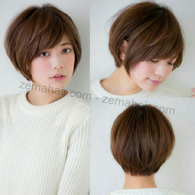Kiểu tóc ngắn cho mặt tròn: pixie mái chéo
