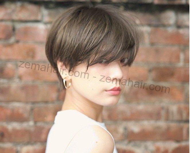 Kiểu tóc Pixie rẽ ngôi lệch trông sang trọng, thon gọn