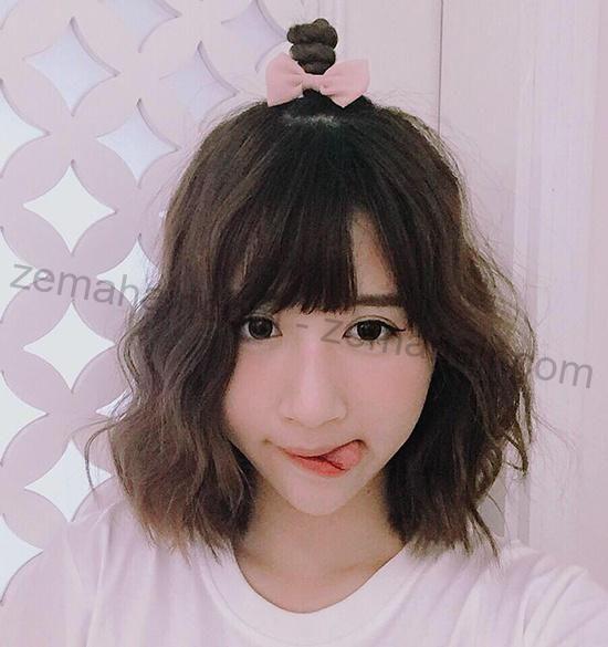 Shyn Quỳnh Anh với kiểu tóc ngắn Hàn Quốc đáng yêu