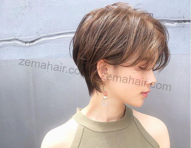Tóc ngắn cho mặt tròn trông thon gọn hơn