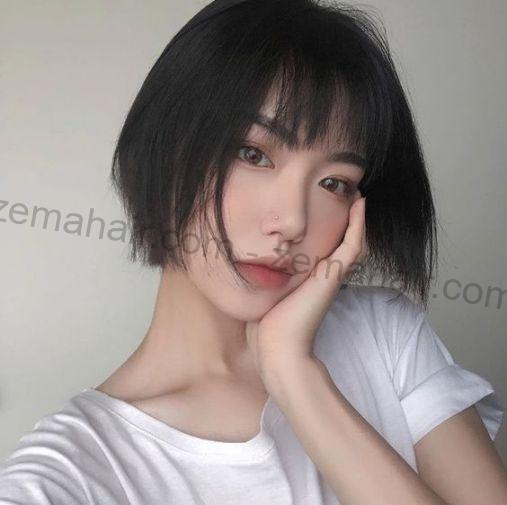 Tóc ngắn cho mặt tròn cá tính, năng động dễ thương cho hot girl