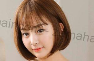 Kiểu tóc ngắn uốn phồng phần đuôi kết hợp mái thưa trông xinh xắn
