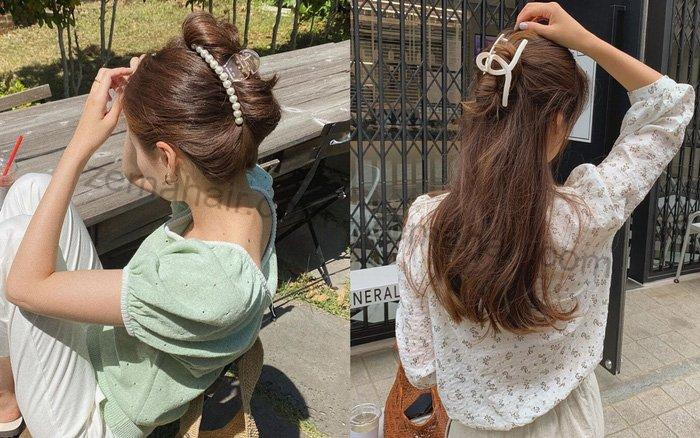 Kẹp càng cua vừa tạo nên kiểu tóc thêm phần sang trọng vừa tạo nếp uốn tự nhiên