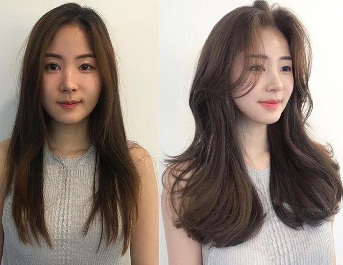 Thật hoàn hảo với tóc layer mái bay che đi khuyết điểm hoàn hảo.