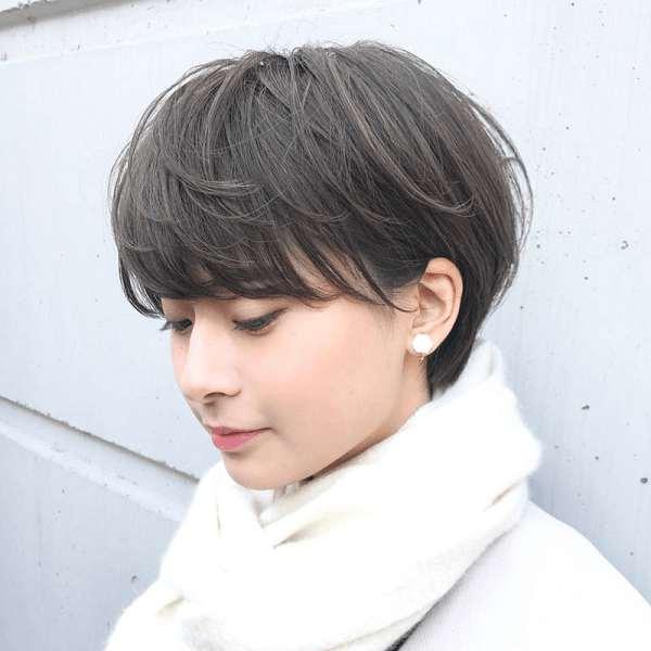 Mẫu tóc tém mái bằng hiện đại.