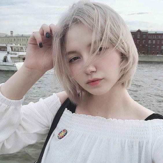Tóc màu bạch kim đẹp