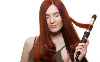 Phần đuôi tóc cụp vào rất đẹp nhờ máy uốn tóc