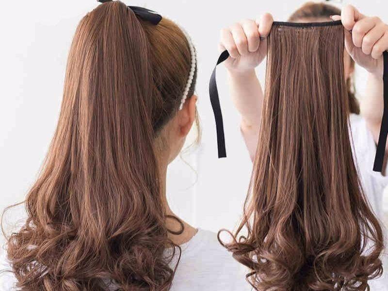 Tóc giả buộc đuôi nhìn rất giống tóc thật