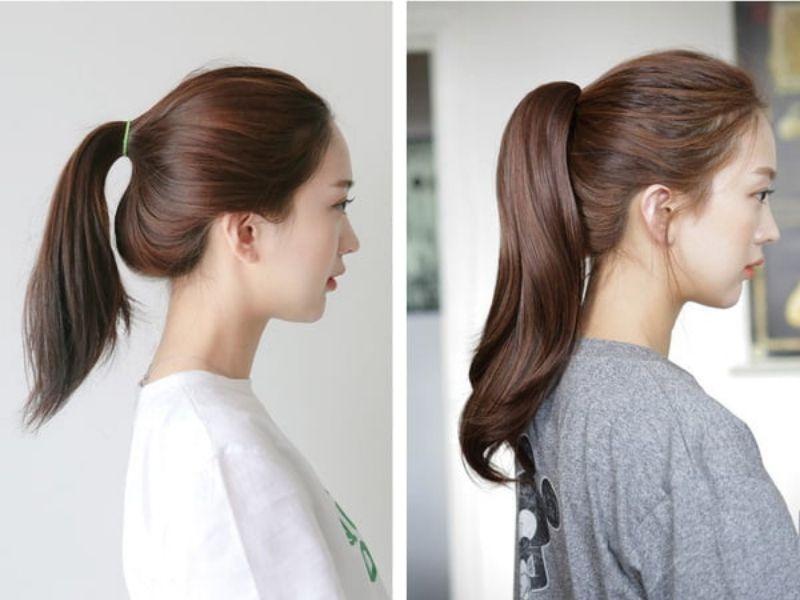 Diện mạo thay đổi rõ rệt nhờ tóc giả buộc đuôi