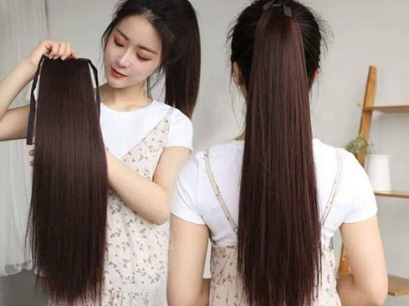 Mái tóc giả buộc đuôi dài thanh lịch cho nữ