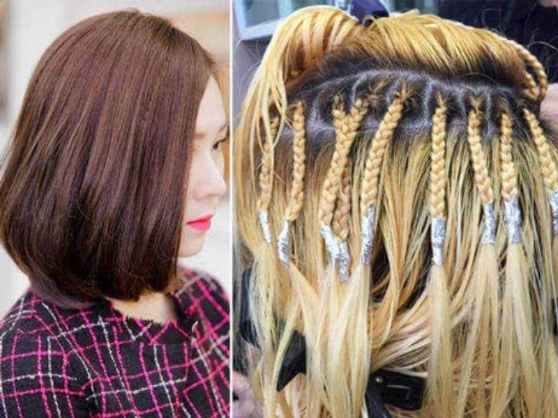 Tết phần chân tóc để giúp tóc được phồng lên đẹp hơn