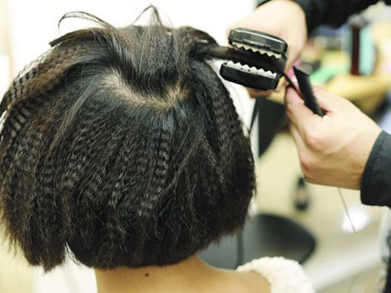 Xương bấm tóc ziczac giúp tóc phồng