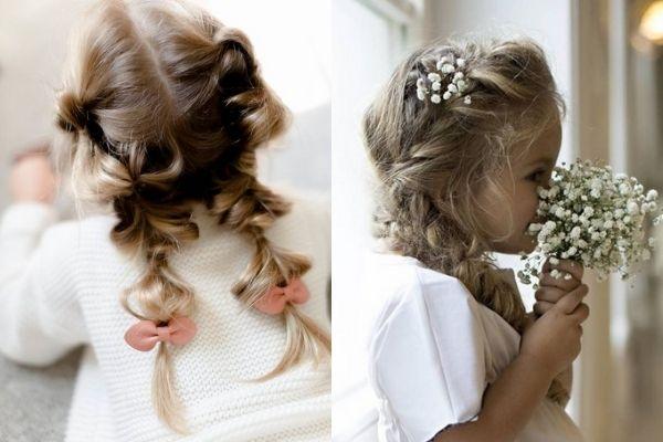 Bím tóc dài, sang trọng cho bé gái.