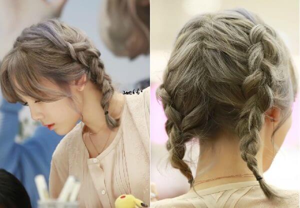Kiểu tóc tết thắt bím đáng yêu dành cho những cô nàng thích sự đơn giản