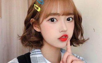 Tóc ngắn uốn đuôi kiểu Hàn Quốc