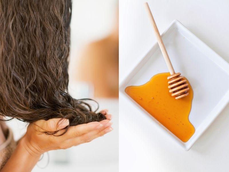 Chỉ cần trộn mật ong với dầu xả dùng xả tóc có thể giúp tóc sáng màu