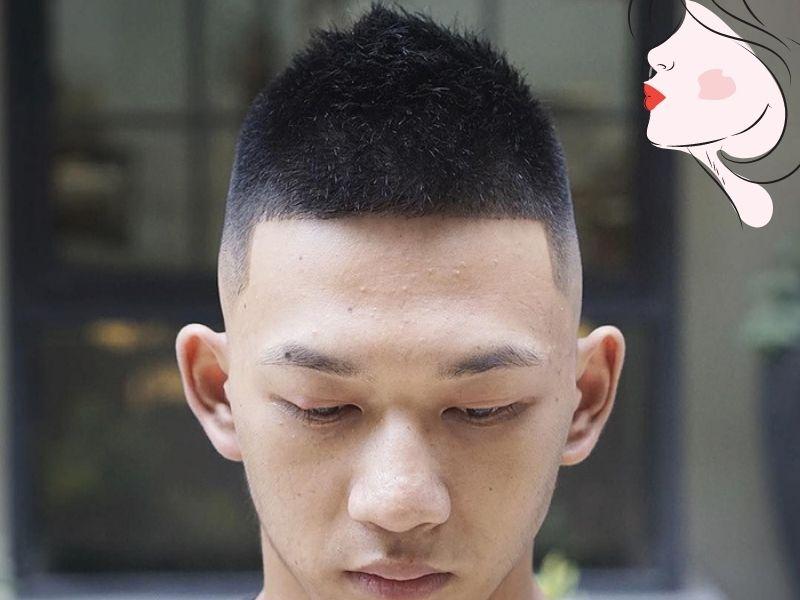 Kiểu cắt đầu đinh nhọn cho nam giới