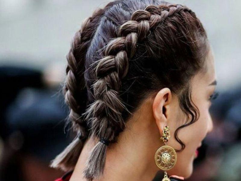 Một trong những kiểu tóc tết 2 bên từ trước về sau ấn tượng cho nữ