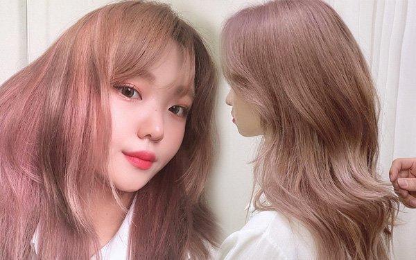 Nhuộm là giai đoạn cuối cùng để chúng ta có mái tóc nhuộm màu hồng