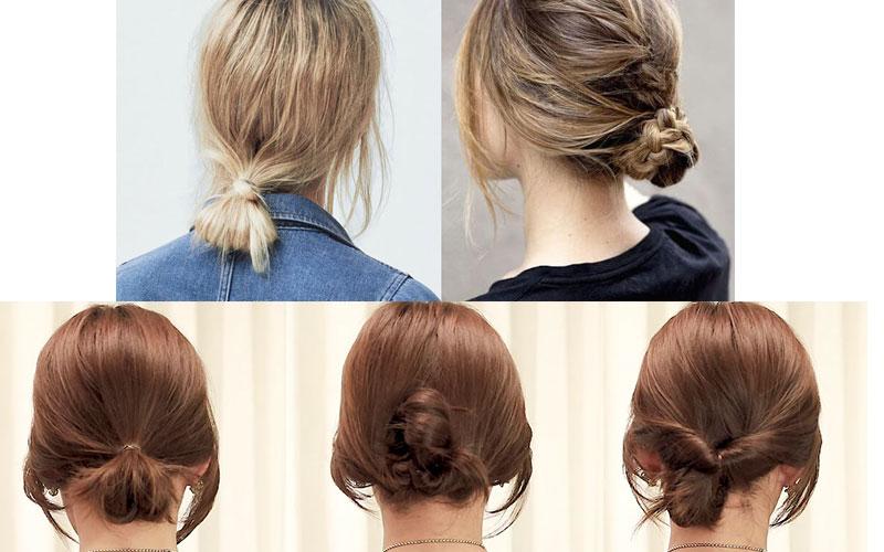 Nếu tóc bạn quá ngắn, bạn vẫn có thể buộc nửa đầu để mặc áo dài