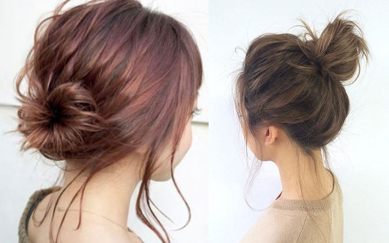 Kiểu tóc giúp hack chiều cao khi mặc áo dài