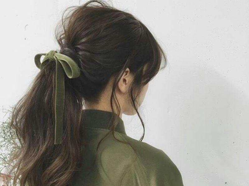 Một biến tấu từ tóc đuôi ngựa thấp