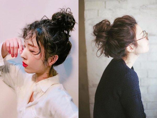 Búi tóc giúp các nàng mặt vline xinh đẹp năng động