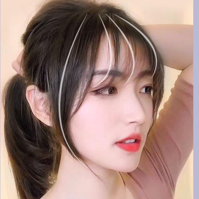 Để mái khiến mái tóc mỏng trông dày lên một cách tự nhiên