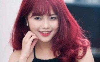 Tóc dài màu đỏ đậm