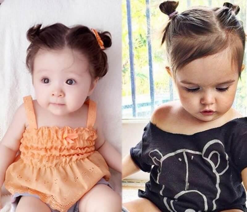 Cách buộc tóc cho bé gái tóc ngắn