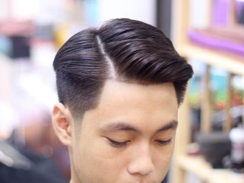 Lối cắt cơ bản nhất của tóc side swept