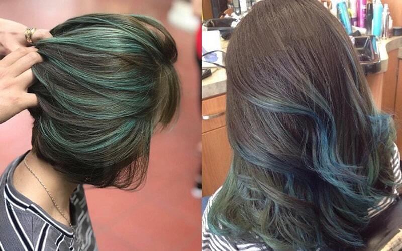 Nền tóc nâu tây tôn mọi màu highlight một cách trọn vẹn